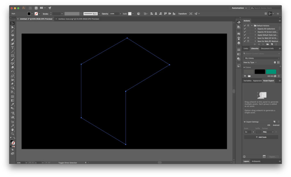 Simple Projection Mapping - Shape on Black Box