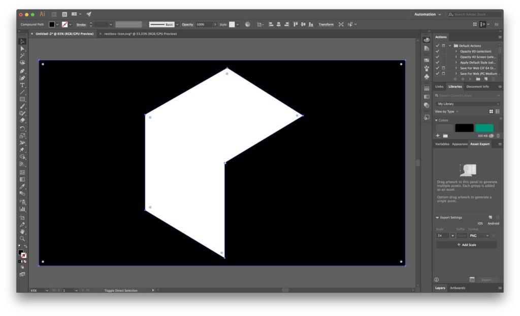 Simple Projection Mapping - Shape on Black Box Punched